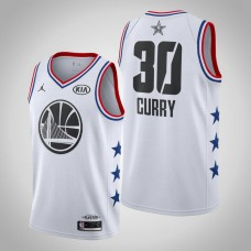 2019 All-Star Stephen Curry Golden State Warriors #30 White Jersey