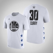 Golden State Warriors #30 Stephen Curry White 2019 All-Star T-Shirt