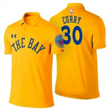 Golden State Warriors #30 Stephen Curry Gold City Polo
