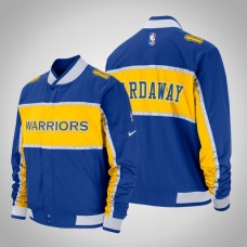 Golden State Warriors #10 Tim Hardaway Royal Courtside Icon Jacket