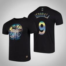 Golden State Warriors Andre Iguodala #9 Black City Landmark Short Sleeve T-Shirt