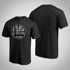 Golden State Warriors Camouflage Cloak Black Team T-shirt