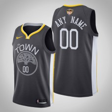 Golden State Warriors Custom #00 Black 2019 Finals Jersey  -  Statement