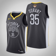 Golden State Warriors Kevin Durant #35 Black 2019 Finals Jersey  -  Statement