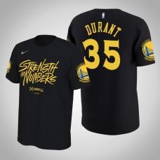 Golden State Warriors #35 Kevin Durant Black Playoffs Bound T-Shirt