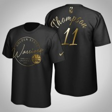 Golden State Warriors Klay Thompson #11 Black Golden Edition Handwriting T-Shirt