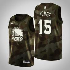 Golden State Warriors #15 Damian Jones 2019 Memorial Day Jersey