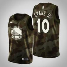 Golden State Warriors #10 Jacob Evans III Camo 2019 Memorial Day Jersey