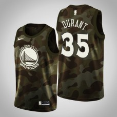 Golden State Warriors #35 Kevin Durant Camo 2019 Memorial Day Jersey