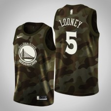 Golden State Warriors #5 Kevon Looney Camo 2019 Memorial Day Jersey
