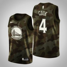 Golden State Warriors #4 Quinn Cook 2019 Memorial Day Jersey
