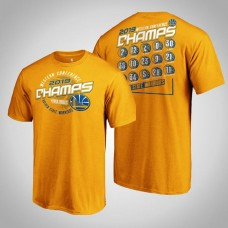 2019 Western Conference Champions Team Represent Roster Golden State Warriors Gold T-Shirt