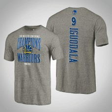 Golden State Warriors Andre Iguodala #9 2019 Western Conference Champions Extra Pass Tri-Blend Gray T-Shirt - Men's