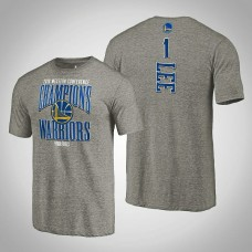 Golden State Warriors Damion Lee #1 2019 Western Conference Champions Extra Pass Tri-Blend Gray T-Shirt - Men's