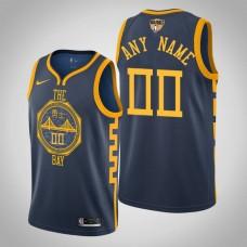 Golden State Warriors Custom #00 Navy City Jersey  -  2019 Finals