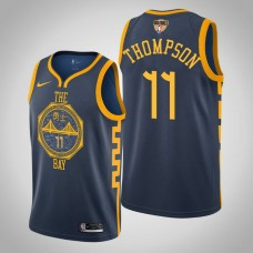 Golden State Warriors Klay Thompson #11 Navy City Jersey  -  2019 Finals