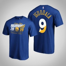 Golden State Warriors Andre Iguodala #9 2019 Playoffs Western Conference Finals Bound Real Flava Royal T-Shirt