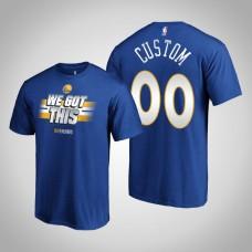 Golden State Warriors #00 Custom Royal Playoffs Bound T-Shirt