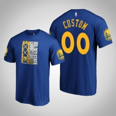 Golden State Warriors Custom #00 Royal 2019 Western Conference Champions Identity T-Shirt