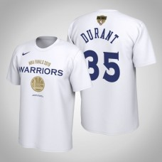 Golden State Warriors Kevin Durant #35 2019 Finals Bound White T-Shirt