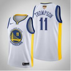 Golden State Warriors Klay Thompson #11 White Association Jersey  -  2019 Finals