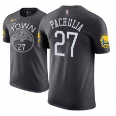 Golden State Warriors #27 Zaza Pachulia Statement T-Shirt