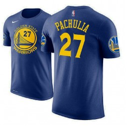 Zaza Pachulia Golden State Warriors #27 Royal Icon Edition T-Shirt