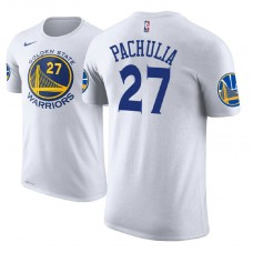 Golden State Warriors #27 Zaza Pachulia White Association T-Shirt