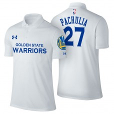 Golden State Warriors #27 Zaza Pachulia White Association Polo