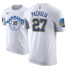 Zaza Pachulia Golden State Warriors #27 Classic Edition White T-Shirt