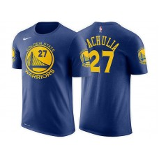 Golden State Warriors #27 Zaza Pachulia Blue Icon T-Shirt