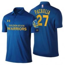 Golden State Warriors #27 Zaza Pachulia Royal Icon Polo