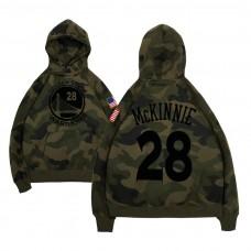 Golden State Warriors #28 Alfonzo McKinnie Camo Military Hoodie