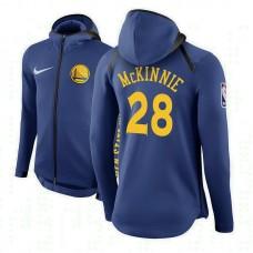 Golden State Warriors #28 Alfonzo McKinnie Royal Showtime Hoodie