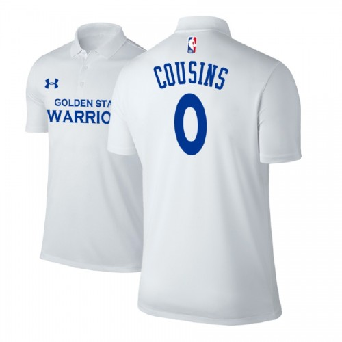 DeMarcus Cousins Golden State Warriors #0 Association White Performance Polo
