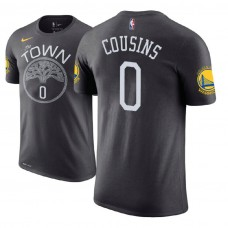 Golden State Warriors #0 DeMarcus Cousins Gray Statement T-Shirt