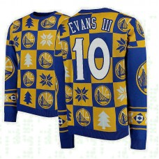 Golden State Warriors #10 Jacob Evans III Gold 2018 Christmas Sweater