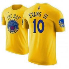 Golden State Warriors #10 Jacob Evans III Gold City T-Shirt