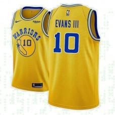 Golden State Warriors #10 Jacob Evans III Gold Hardwood Classics Jersey