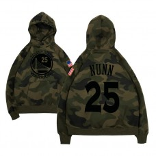 Golden State Warriors #25 Kendrick Nunn Camo Name & Number Hoodie