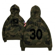 Golden State Warriors #30 Stephen Curry Camo Name & Number Hoodie