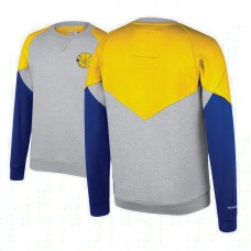Golden State Warriors Heathered Gray Hardwood Classics Trading Block Crew Sweater