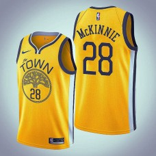 Golden State Warriors #28 Alfonzo McKinnie Earned Jersey