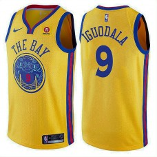 Golden State Warriors #9 Andre Iguodala Gold City Jersey
