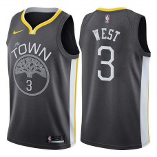 Golden State Warriors #3 David West Statement Jersey