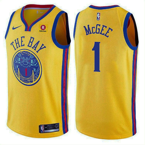 2017-18 JaVale McGee Golden State Warriors #1 Gold Jersey