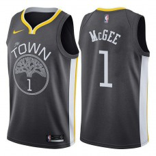 Golden State Warriors #1 JaVale McGee Gray Statement Jersey