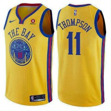 2017-18 Klay Thompson Golden State Warriors #11 Gold Jersey
