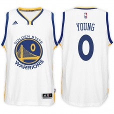 Golden State Warriors #0 Nick Young White Home Jersey
