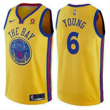 Golden State Warriors #6 Nick Young City Jersey